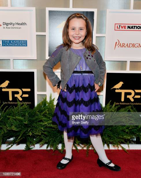 Cancer survivor Alexa Garin attends Imagine Dragons' fifth annual Tyler Robinson Foundation Rise Up Gala benefiting families affected by pediatric...