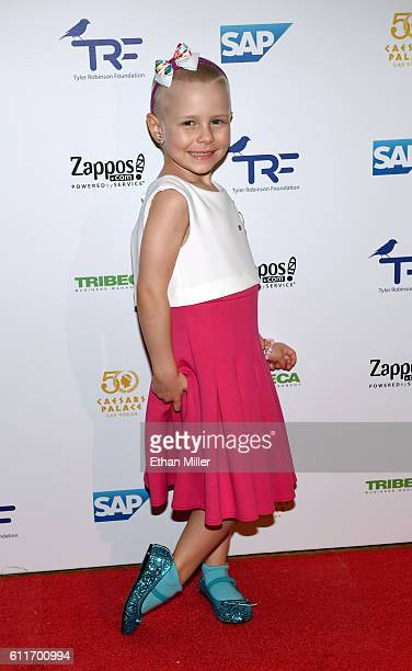 Cancer survivor Alexa Garin attends the third annual Tyler Robinson Foundation gala benefiting families affected by pediatric cancer at Caesars...