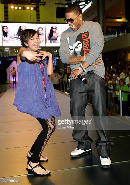 Cancer survivor Valerie Cruz from the Nevada Childhood Cancer Foundation joins rapper Nelly to help showcase the latest collection from Apple Bottoms...