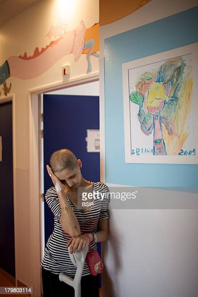 Cancerous Woman In Hospital This photo essay can be used only to illustrate cancer Raymond Poincare Hospital Department of pediatric oncology Garches...