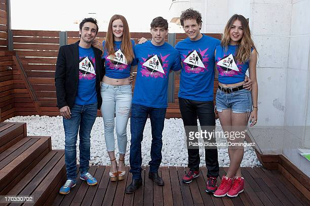 Canco Rodriguez Ana Polvorosa Adrian Lastra Daniel Diges and Andrea Guasch attend 'Hoy No Me Puedo Levantar' presentation at Torre Madrid on June 11...