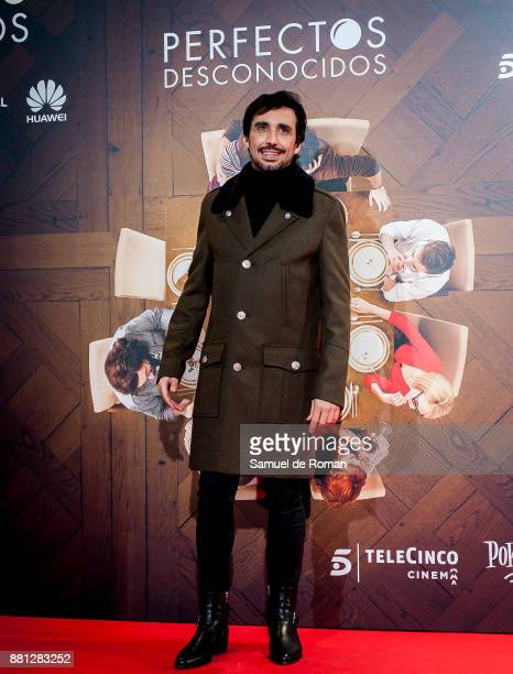 Canco Rodriguez attends 'Perfectos Desconocidos' premiere at the Capitol Cinema on November 28 2017 in Madrid Spain