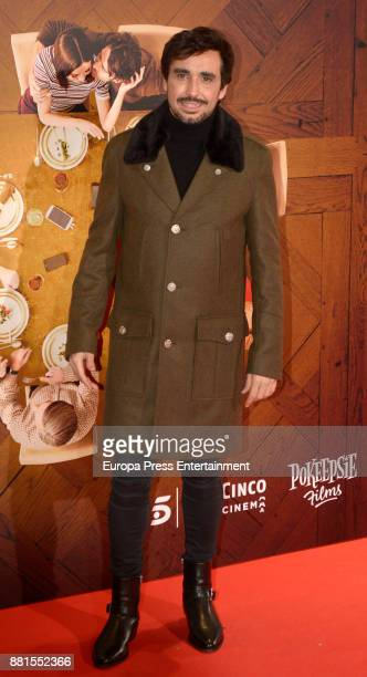 Canco Rodriguez attends the 'Perfectos desconocidos' premiere at Capitol cinema on November 28 2017 in Madrid Spain