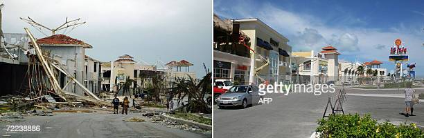 Picture of the shopping centre 'La Isla' in Cancun taken on October 21st after Hurricane Wilma devastated this Mexican seaside resort Picture of the...