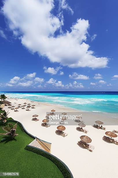 cancun resort - mayan riviera stock photos and pictures