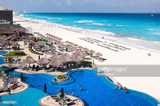 cancun resort - cancun stock pictures, royalty-free photos & images