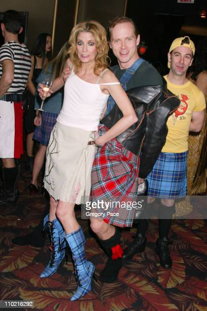 Candace Bushnell and Charles Askegard during Dressed to Kilt A Scottish Evening of Fashion and Fun Arrivals and Backstage at Copacabana in New York...