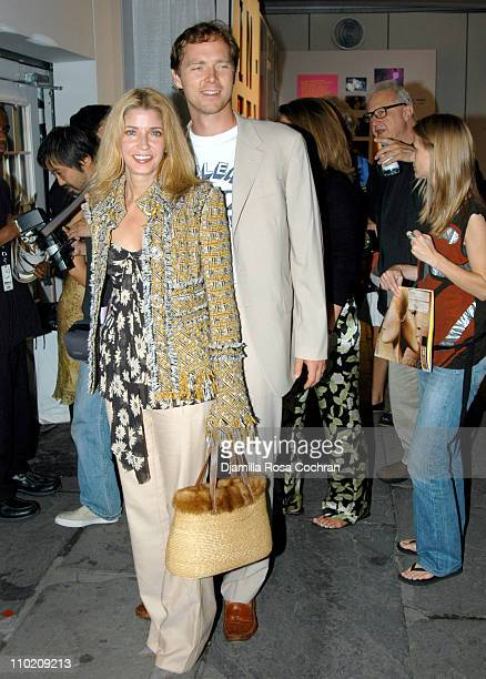 Candace Bushnell and Charles Askegard during Olympus Fashion Week Spring 2005 Seen at Bryant Park Day 5 at Bryant Park in New York City New York...