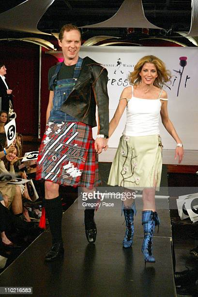 Candace Bushnell and husband Charles Askegard during Dressed to Kilt A Scottish Evening of Fashion and Fun Runway at Copacabana in New York City New...