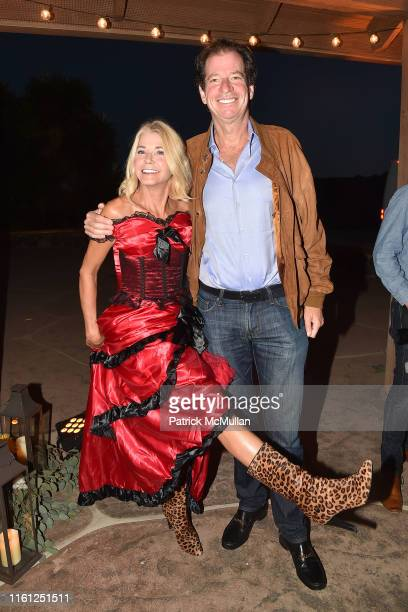 Candace Bushnell and James Coleman attend Hearst Castle Preservation Foundation Patron Cowboy Cookout at Hearst Ranch on September 29 2018 in San...