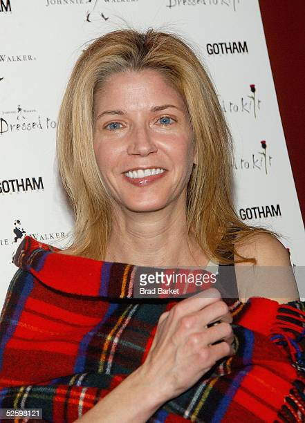 Candace Bushnell arrives to the Johnnie Walker Presents Dressed to Kilt fashion show at the Copacabana on April 6 2005 in New York