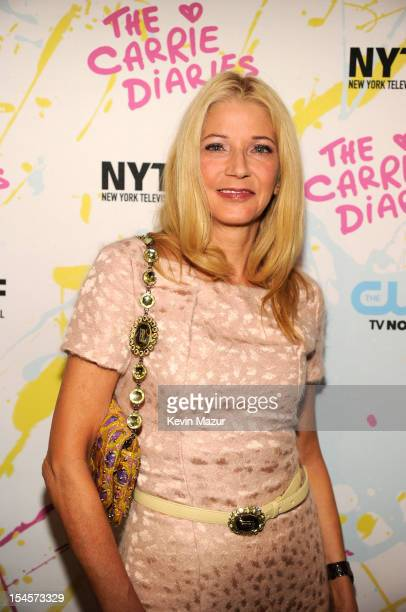Candace Bushnell arrives to the red carpet world premiere of The Carrie Diaries at the New York Television Festival at SVA Theater on October 22 2012...