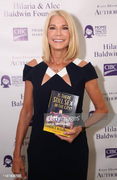 Candace Bushnell at the East Hampton Library's 15th Annual Authors Night Benefit on August 10, 2019 in Amagansett, New York.