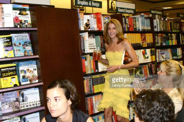 Candace Bushnell author of 'Sex and the City' and 'Four Blondes' reads from and signs copies of her latest book Trading Up June 9 2004 at Barnes and...