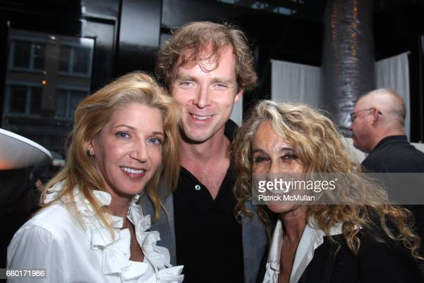 Candace Bushnell Charles Askegard and Gigi Levangie Grazer attend Celebration of GIGI LEVANGIE GRAZER'S New Book QUEEN TAKES KING at Mr Chow Tribeca...
