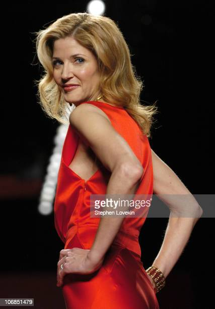 Candace Bushnell during Olympus Fashion Week Fall 2005 Heart Truth Red Dress Collection Backstage and Runway at The Tent Bryant Park in New York City...