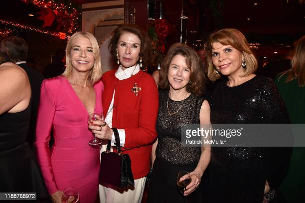 Candace Bushnell, Sara Colleton, Rachel Cobb and Ivana Lowell attend Anne Hearst McInerney, Jay McInerney and George Farias Host Christmas Cheer at...