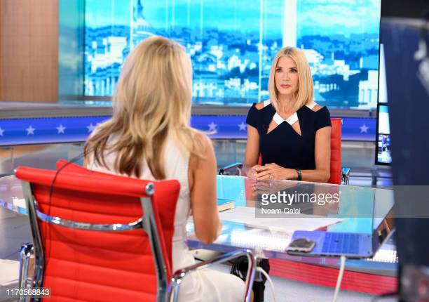 Candace Bushnell visits 'The Daily Briefing' with anchor Dana Perino at FOX Studios on August 27 2019 in New York City