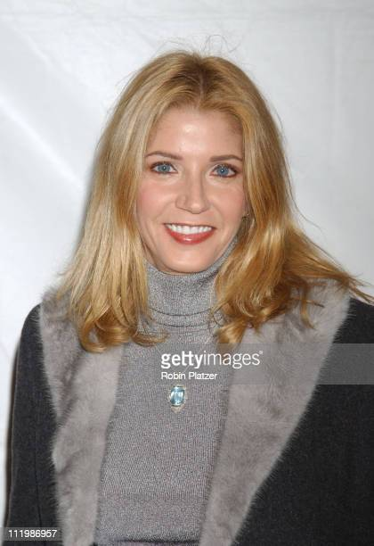 Candace Bushnell wearing a Dolce Gabbana coat during 'Angels In America' New York Premiere at Ziegfeld Theater in New York City New York United States