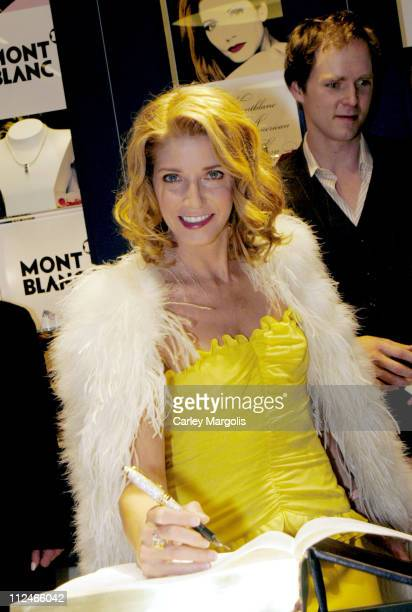 Candace Bushnell writes the first line of Montblanc's Great American Love Story with the world's most expensive pen The book when finished will hold...