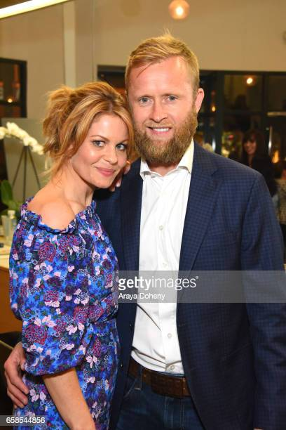 Candace Cameron and Valeri Bure attend Natasha Bure Let's Be Real Los Angeles book launch party at Eden By Eden Sassoon on March 24 2017 in Los...