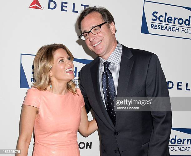 Candace Cameron Bure and Bob Saget attend the Cool Comedy Hot Cuisine event to benefit the Scleroderma Research Foundation at Four Seasons Hotel Los...