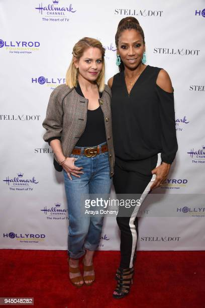 Candace Cameron Bure and Holly Robinson Peete attend the Stella Dot x HollyRod Foundation Charity Trunk Show for Autism Awareness Month on April 11...