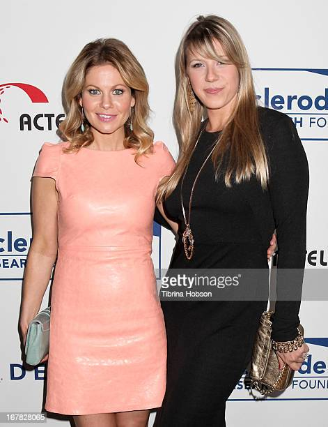 Candace Cameron Bure and Jodie Sweetin attend the Cool Comedy Hot Cuisine event to benefit the Scleroderma Research Foundation at Four Seasons Hotel...