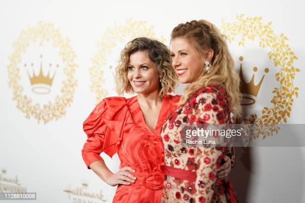 Candace Cameron Bure and Jodie Sweetin attends Hallmark Channel And Hallmark Movies And Mysteries 2019 Winter TCA Tour at Tournament House on...
