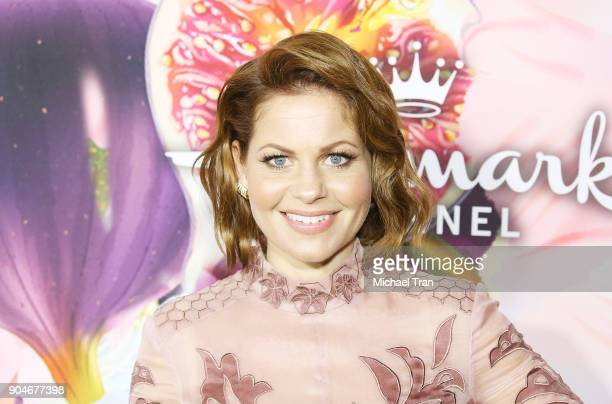 Candace Cameron Bure arrives to the Hallmark Channel and Hallmark Movies and Mysteries Winter 2018 TCA Press Tour held at Tournament House on January...