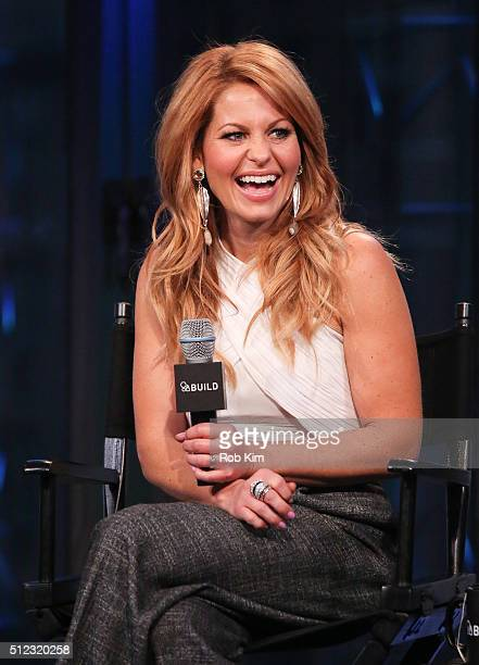Candace Cameron Bure attends the AOL Build Speakers Series to discuss Fuller House at AOL Studios In New York on February 25 2016 in New York City