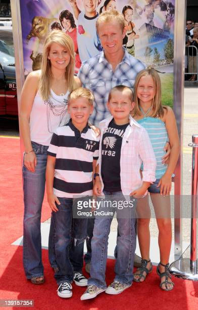 """Candace Cameron Bure, husband Valeri Bure and children arrive at the Los Angeles Premiere of """"Shorts"""" held at the Grauman's Chinese Theatre in..."""