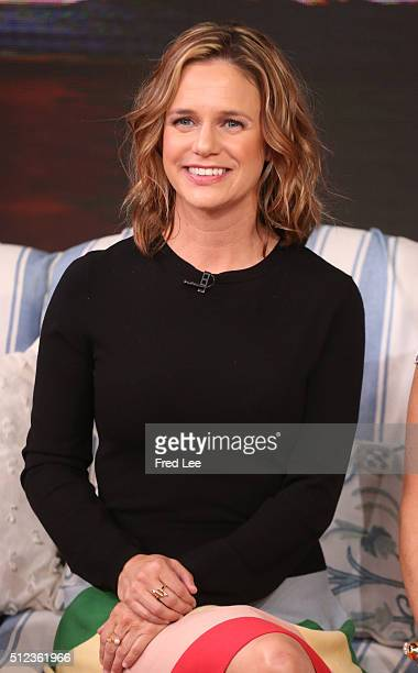 AMERICA Candace Cameron Bure Jodie Sweetin and Andrea Barber of Fuller House are guests on Good Morning America 2/24/16 airing on the Walt Disney...