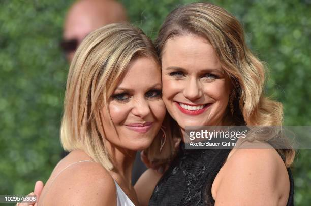 Candace CameronBure and Andrea Barber attend the 2018 Creative Arts Emmy Awards at Microsoft Theater on September 8 2018 in Los Angeles California
