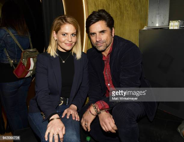 Candace CameronBure and John Stamos attend the 18th Annual International Beverly Hills Film Festival Opening Night Gala Premiere of Benjamin at TCL...