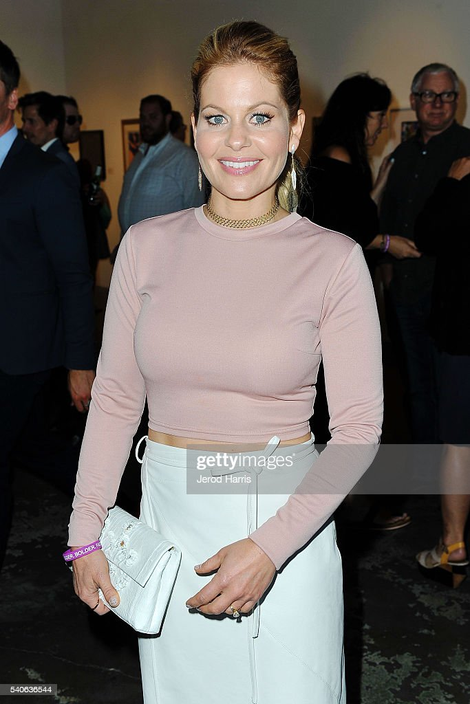Candace Cameron-Bure attends Art For ALS at Arena 1 Gallery at the Santa Monica Art Studios on June 15, 2016 in Santa Monica, California.