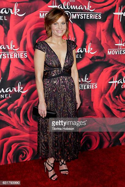 Candace CameronBure attends Hallmark Channel Movies and Mysteries Winter 2017 TCA Press Tour at The Tournament House on January 14 2017 in Pasadena...