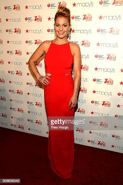 Candace CameronBure attends The American Heart Association's Go Red For Women Red Dress Collection 2016 Presented By Macy's at The Arc Skylight at...