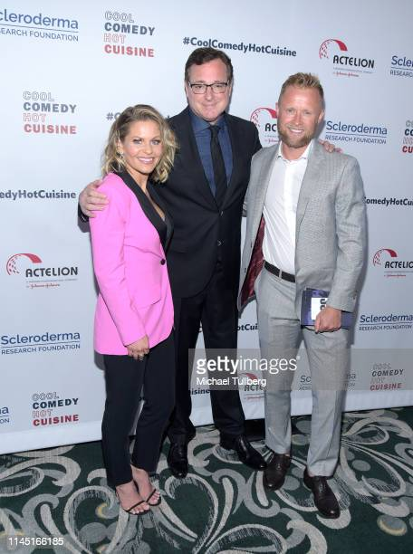 Candace Cameron-Bure, Bob Saget and Valeri Bure attend Bob Saget's Cool Comedy Hot Cuisine presented by the Scleroderma Research Foundation at the...