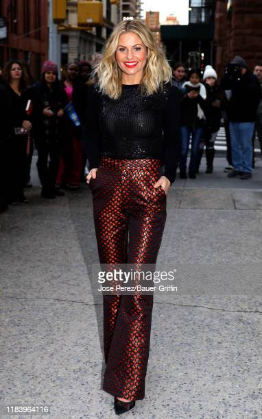 Candace CameronBure is seen outside the Build Studio on November 22 2019 in New York City