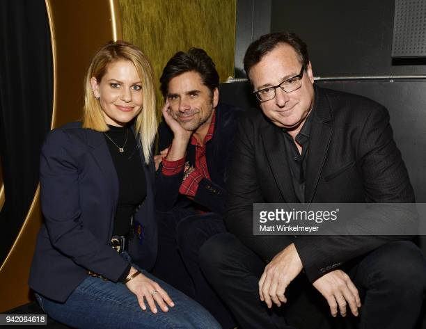 Candace CameronBure John Stamos and Bob Saget attend the 18th Annual International Beverly Hills Film Festival Opening Night Gala Premiere of...