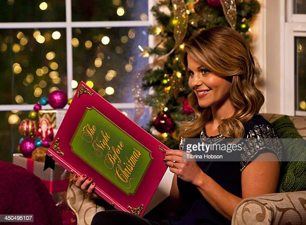 Candace CameronBure on the set of Hallmark Channel's 'Home Family' Holiday Special on November 18 2013 in Universal City California