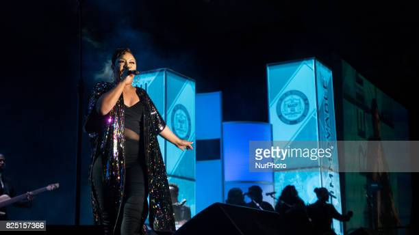 Candace Coles performed at the Thailheimer/Freedom Fund Awards Dinner on the last day of the NAACPs 108th Annual Convention at the Baltimore...