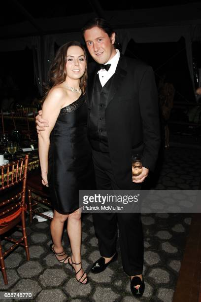 Candace DiConza and Brendan Maher attend the Wildlife Conservation Society's Central Park Zoo '09 Gala at the Central Park Zoo on June 10 2009 in New...