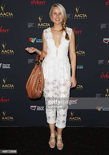Candace Dixon poses at the 4th ACCTA Awards opening night at Event Cinemas Bondi Junction on October 6 2014 in Sydney Australia