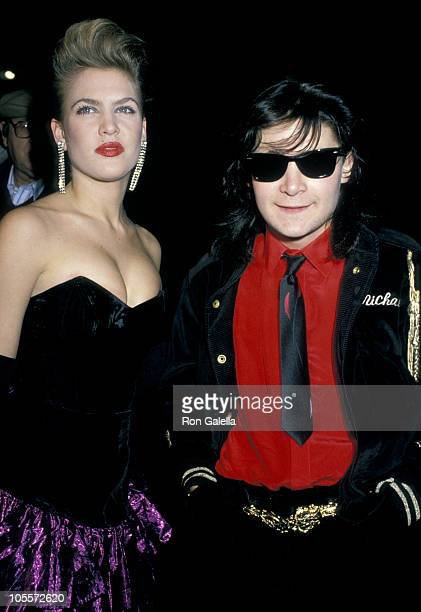 Candace Gold and Corey Feldman during Salute to 'The Burbs' at New Improvisation Comedy Club in Santa Monica California United States
