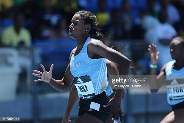 Candace Hill USA winning the 100m Women's Girls Dream Competition during the Diamond League Adidas Grand Prix at Icahn Stadium Randall's Island...