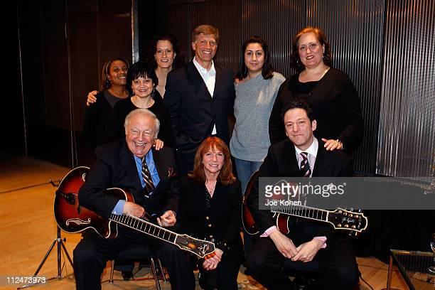 Candace Jones Lisa Zahn Elizabeth Healy Robert Santelli Daniela Acuna and Lorena Mann Guitar Players Bucky Pizzarelli his son John Pizzarelli and...