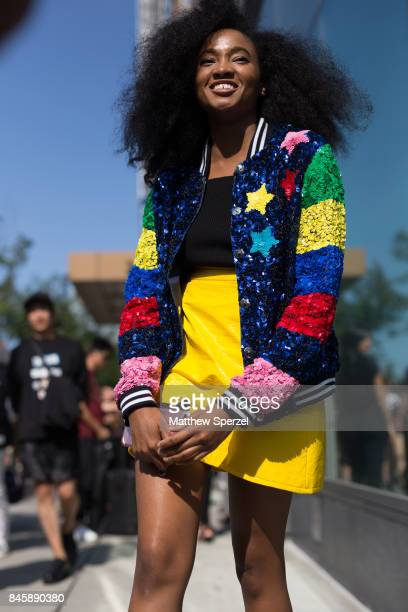 Candace Marie is seen attending 31 Phillip Lim during New York Fashion Week wearing Lisa Perry on September 11 2017 in New York City
