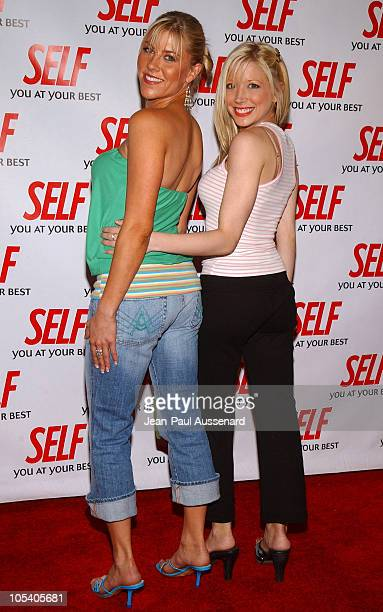 Candace Muzny NASCAR pilot and Courtney Peldon during Hollywood Gets Healthy with Self Magazine Arrivals at Fred Segal Beauty in Santa Monica...